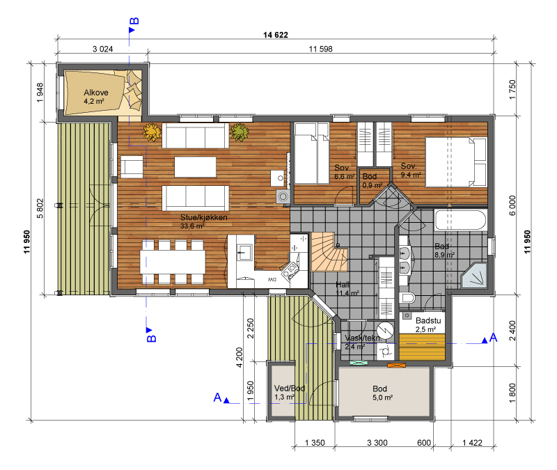 Lugn Skogfiol grunnplan